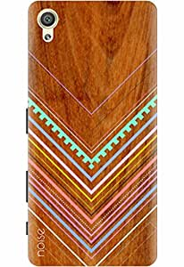 Noise Designer Printed Case / Cover for Sony Xperia X Dual / Wood / Tribal Wooden Pattern Design