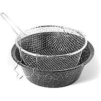 CERIANI Fryer fer/porcelaine panier 32
