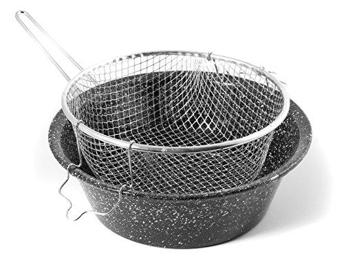 CERIANI Friggitrice ferro/porcellana con cestello 32 Pentole e preparazione