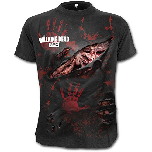 T Shirt X The Walking Dead Rick Spiral Direct (Nero) - Medium