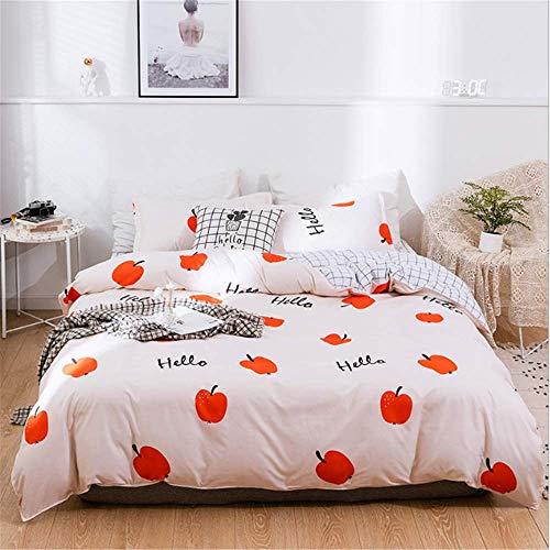 SHJIA Print Bettbezug Baumwolle Quilt Tröster Decke Bettbezüge Single Full Double Queen King Size A 200x230cm -