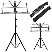 tinkertonk Stable Foldable Tripod Based Sheet Music Adjustable Stand with Carry Bag