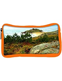 Snoogg Eco Friendly Canvas Small Grass On Mountain Designer Student Pen Pencil Case Coin Purse Pouch Cosmetic...