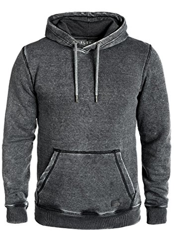 Blend Burn Herren Kapuzenpullover Hoodie Pullover Mit Kapuze, Größe:XXL, Farbe:Black (70155) Burnout Zip Hoodie