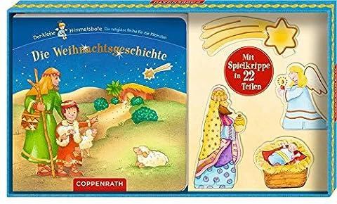 Die Weihnachtsgeschichte: (Buch mit Spielkrippe in