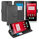 Orzly® - OnePlus ONE - Multi-Function Wallet Stand Case -