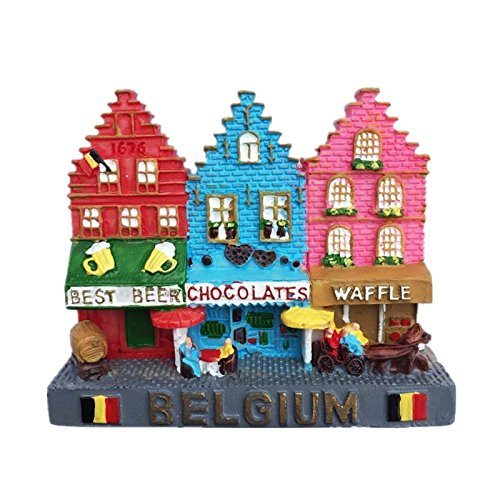 Rainbow Street Brüssel Belgien Kunstharz 3D starker Kühlschrank Magnet Souvenir Tourist Geschenk Chinesische Magnet Hand Made Craft Creative Home und Küche Dekoration Magnet Sticker