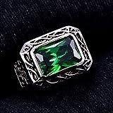 Bonlavie Ring Herren 925 Sterling-Silber Smaragd Schmuck Ehering Verlobungsring Hochzeits Ring, Größe 52 bis 71 - 4