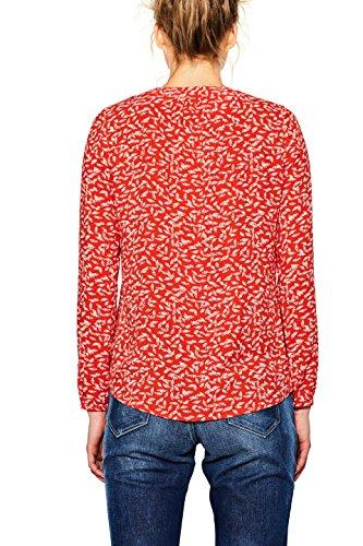 edc by ESPRIT Damen Bluse Mehrfarbig (Red 630)