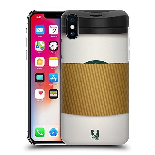 Head Case Designs Ghiacciato Tazze Di Caffè Cover Retro Rigida per Apple iPhone X Manica