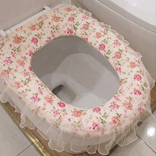 WC-Sitzkissen Garten-Spitze-WC-Sitz verdickte Toilettensitz 4046cm warm weich bequemen gepolsterten Sitz für ältere Behinderte