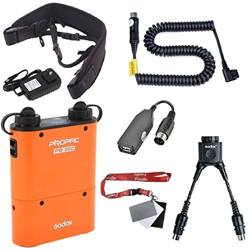 Flash-power Pack (Fomito Godox PB960 Tragbarer erweiterter Blitzakku-Kit für Canon 600EX 580EX II 580EX 550EX, für Yongnuo-Blitzgeräte, für AD600 AD360 AD180, für Mobiltelefon, Orange)