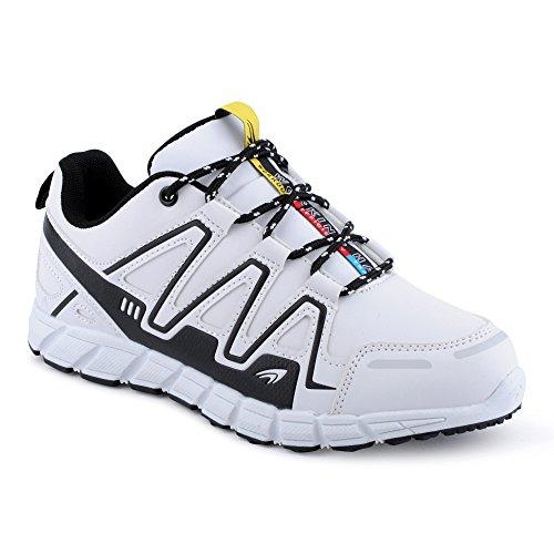 FiveSix Herren Damen Sneaker Sportschuhe Lauf Freizeit Mehrfarbig Runners Fitness Low Unisex Schuhe Weiss/Schwarz-W