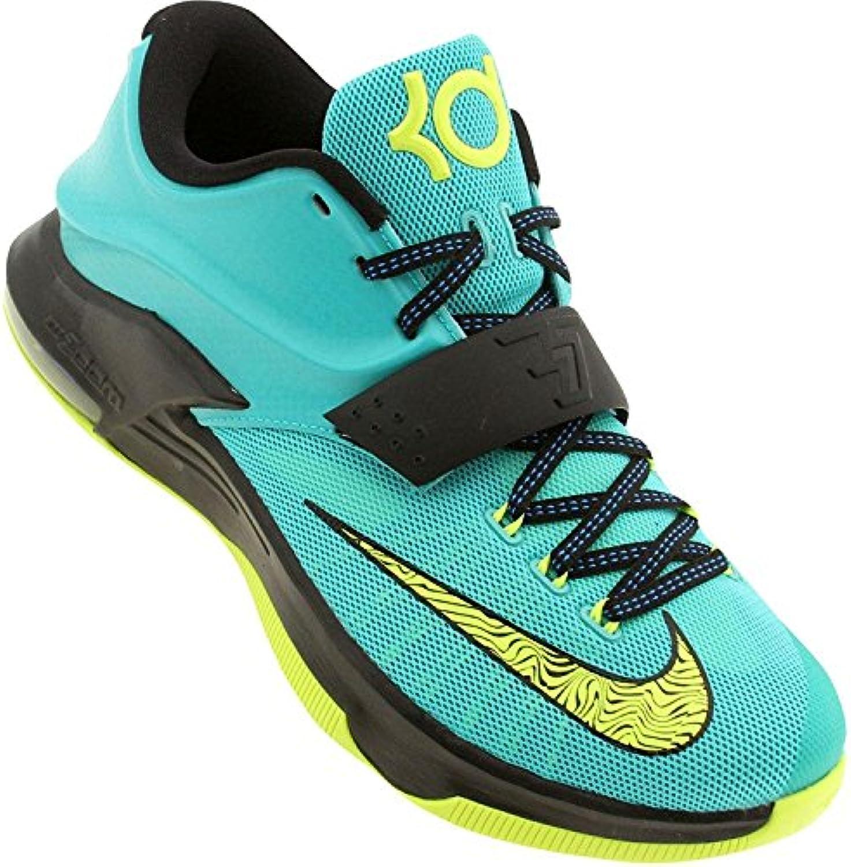 Nike Men's KD VII Uprising Basketball Shoes, Gree/Blk/Blu, 45 EU/10 UK  -