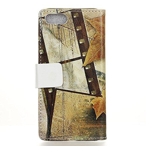 Voguecase® Pour Apple iPhone 7 4,7 Coque, Étui en cuir synthétique chic avec fonction support pratique pour iPhone 7 4,7 (Litchi grain Pourpre)de Gratuit stylet l'écran aléatoire universelle Tour Marple