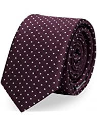 Krawatte Fabio Farini in Rot gepunktet