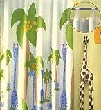 schöne Kindergardine Schlaufenschal Safari Deko Kinderzimmer HxB 260x140 cm einfach