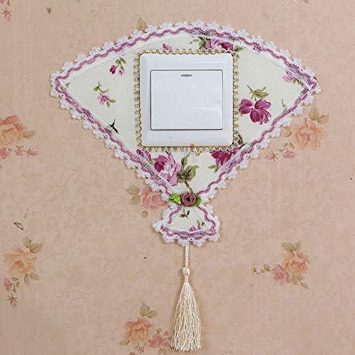 Wall Sticker 2 STK Stoff Ventilator Form Kreativ Moderne, Einfache Lichtschalter Aufkleber Landschaftsgestaltung Dekoration Hochzeit Zimmer Schlafzimmer Wohnzimmer Junge Mädchen Kinder Zimmer Wasser -