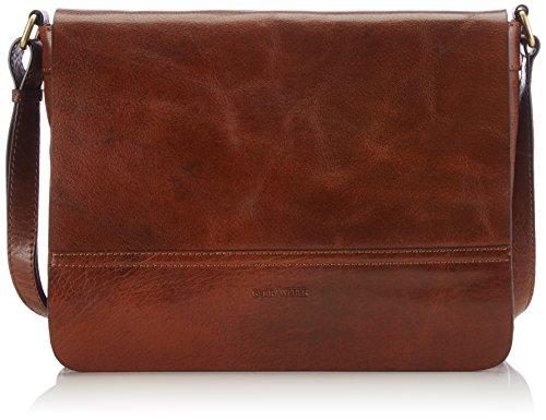 Gerry Weber Lugano Flap Bag M 4080002894 Damen Umhängetaschen 29x22x7 cm (B x H x T), Braun (cognac 703) (Bag Flap)