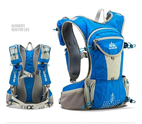 Imagen de aonijie  bolsas de  de nailon impermeable running marathon ciclismo running bolsa de deporte + 1.5l hidratación bolsa de agua, azul alternativa