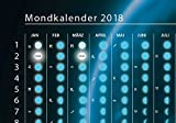Mondkalender 2018 als DIN A2 Poster, gerollt! Mondphasen und Astrologie