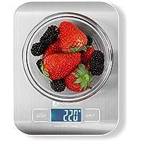 Bilancia da Cucina Digitale Houzetek Alta Precisione Misurazione 1g a 5kg Bilancia Digitale LCD Display Multifunzionale Bilancia da Cucina Elettrica - Acciaio Inossidabile (2 Batterie Incluse)
