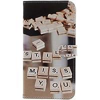 iPhone 6 Plus/6S Plus Hülle Hülle mit Panzerglas, MISSDU Schutzhülle mit Wallet Case Stylus Stift, Kleiner Würfel