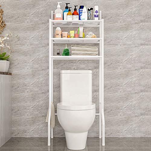 LESHARED Multifunktions-Über-Toilette-Speicher-Regal-Badezimmer-Vollenden-Zahnstange-Waschmaschine-Regal-Haushalts-Möbel