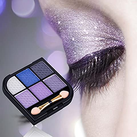 Perfect Summer 6 Colors Makeup Eyeshadow Palette Glitter Set Long Lasting Shade #003, 7.2g