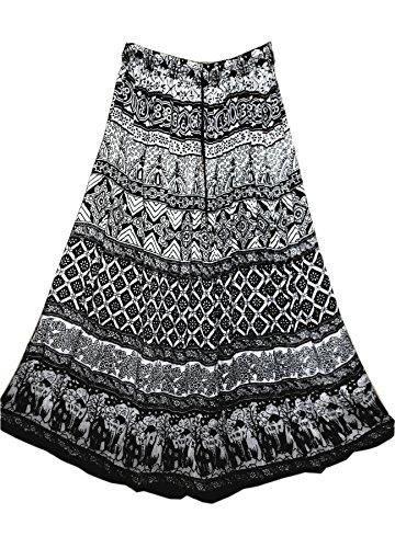 jnb-rayon-wrinkle-skirt-bw-hati-indian-hippy-rock-gypsy-kjol-jupe-retro-boho-falda-women-ehs