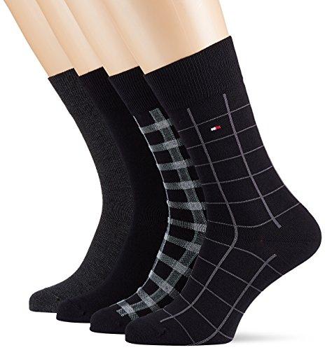 Tommy Hilfiger Herren Socken TH Men Cabin Box 4P, 4er Pack, Schwarz (Black 200), 43/46 (Herstellergröße: 043)
