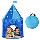 SGILE Kinder Spielzelt Prinz Schloss, Verbessert Indoor Spielhaus Jungen, Outdoor Zelt Kinderzelt Weihnachtsgeschenk Kindergeschenk