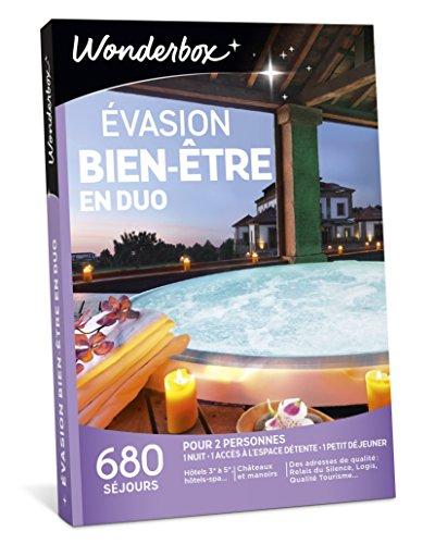 Wonderbox - Coffret cadeau couple - ÉVASION BIEN-ÊTRE EN DUO - 680 Week-ends...