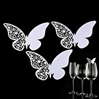 Pueri 50PCS/Pack lots of Butterfly wedding Table Paper place Name