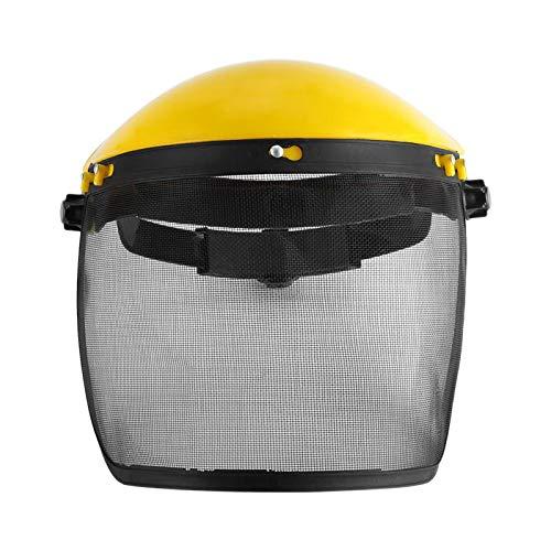 SODIAL Garten Rasen Trimmer Sicherer Helm Hut Mit Voll Gesicht Maske Visier Für Das Protokollieren Des Freischneider Forstwirtschaft Schutzes