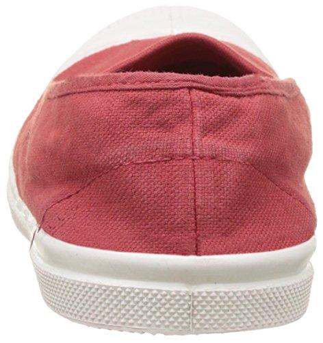 Bensimon Tennis Elastique, Baskets Basses Femme Rouge (Rouge)