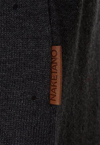 Naketano Male Knit Wir sind Kanacken ja II Anthracite Melange