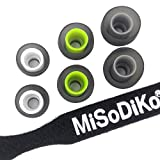 misodiko Replacement Silicone Earbuds Tips - for Jaybird X4, X3, X2, X1, Run, Freedom-F5 & In-Ear Earphones with 5.6mm-7mm Inner Nozzle Tips | S550, Ø5.5mm | 3Pairs, S/M/L