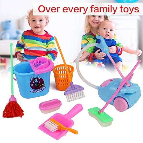 11 Stück Küchen-Set Role Play spielzeug für Kinder,Realistische Reinigungsspiel waren Küchenzubehör Besen und Mopp Spielzeug Küche & Esszimmer Küche & Zuhause Spielzeug (Baby Play Brille)