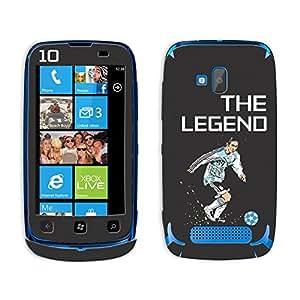 Bluegape Nokia Lumia 610 Lionel Messi 'The Legend' Football Player Mobile Skin Cover, Multicolor