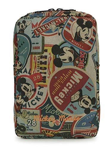 ililily X Disney Mickey Maus Zeichentrick Ausschnitt Schlaufe Cell Phone Hosentasche klein Portemonnaie, Brown