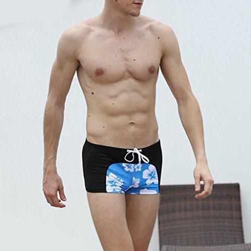 MagiDeal Moda Uomo Boxer Aderenti Parigamba per Nuoto Costume Da Bagno Biancheria Intima Nero