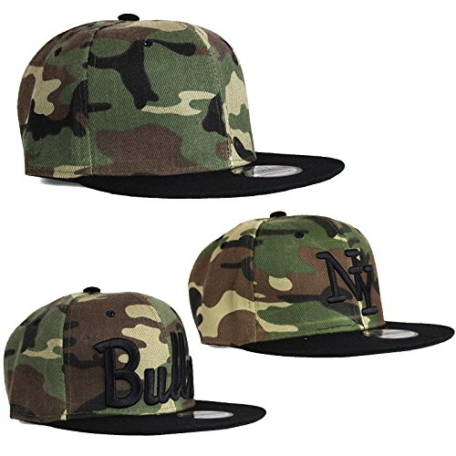 Snapback Basecap Mütze Hip Hop USA Kappe Bulls NY Baseball Cap Armee Design