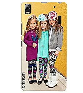 Omnam Three Girls Giving Pose Designer Printed Back Cover Case For Lenovo A7000