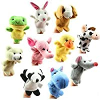 Zehui Finger Puppets Animal Puppets 10 Pieces