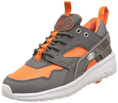 Heelys Jungen Force Sneakers, Mehrfarbig (Dark Grey/Grey/Orange), 38 EU (Herren Heelys)