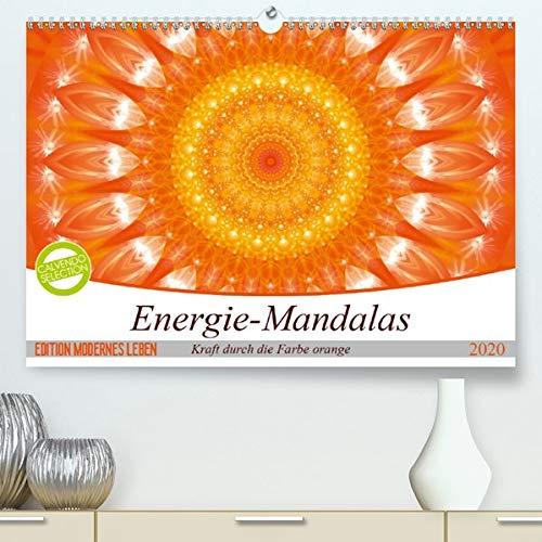 Energie - Mandalas in orange(Premium, hochwertiger DIN A2 Wandkalender 2020, Kunstdruck in Hochglanz): Editionskalender Energie-Mandalas in orange von Christine Bässler (Monatskalender, 14 Seiten )