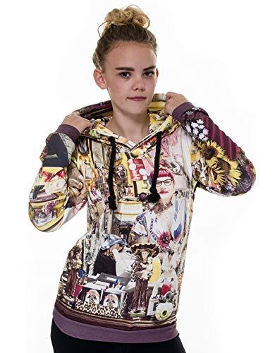 Kapuzenpullover Damen Tattoo & Piercing - Winterpullover Sweater Hoodie -wärmeregulierenden Funktionsstoff ThermoCool gefertigt Hoodie