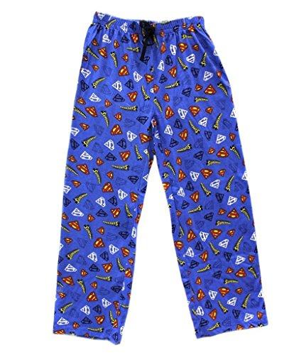 Superman Held Mens Lounge Hose Blau