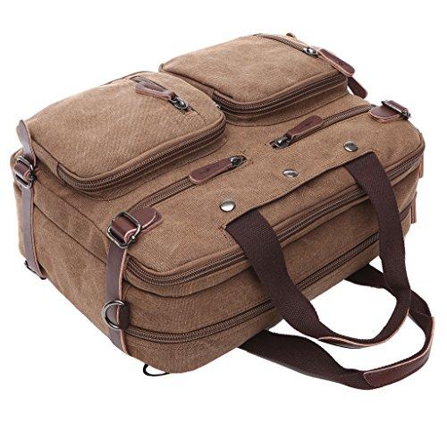 Super moderno tela zaino a tracolla, borsa per computer laptop bag Bookbag School bag, borsa a tracolla per uomini e donne, donna Uomo, Black Black